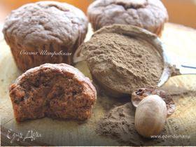 Муале с шоколадом, марципаном и специями