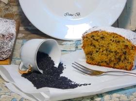 Кекс с семенами черного кунжута