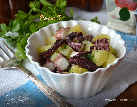 Итальянский салат с осьминогом