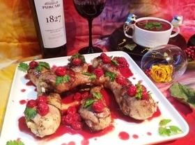 Курица под вишневым соусом Pollo alle ciliegie