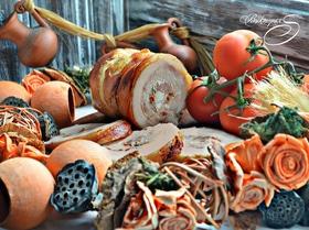 Запеченный рулет из свинины Поркетта (Porchetta)