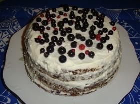 Ягодный торт на кефире