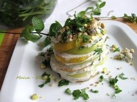 Фруктовый салат с сыром и орехами