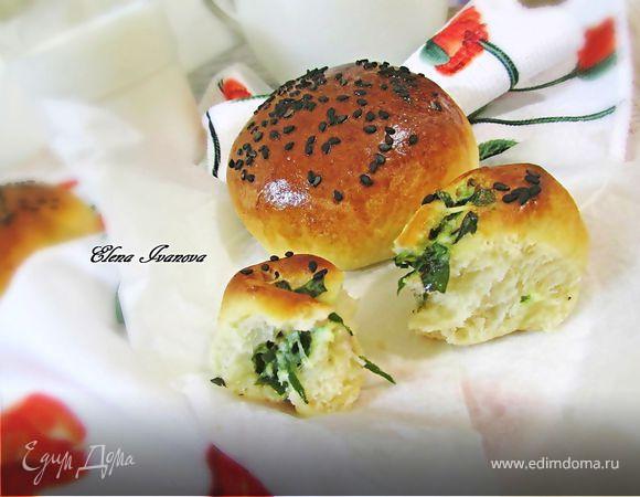 Булочки с листьями свеклы и свежим сыром