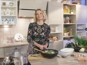 Рецепт лапши по-тайски с креветками от Юлии Высоцкой | #сладкоесолёное №29