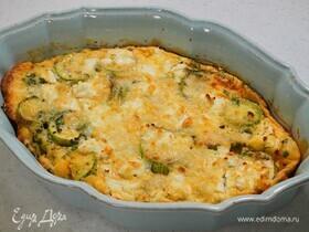 Клафути с кабачками и козьим сыром
