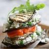 «Наполеон» из овощей-гриль и творога