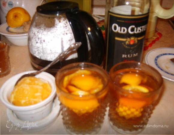 Чай с ромом и апельсином (по рецепту Юлии Высоцкой