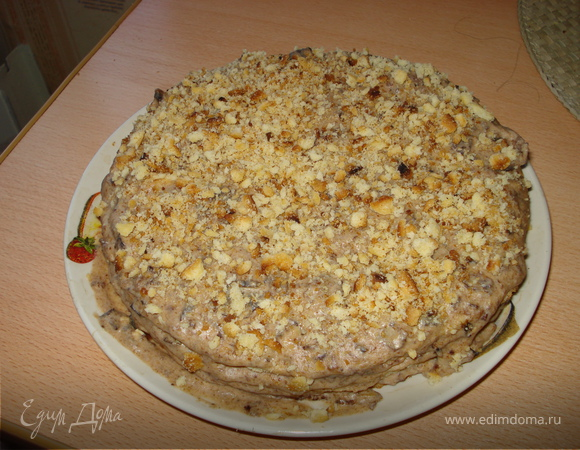 Песочный торт с черносливом.