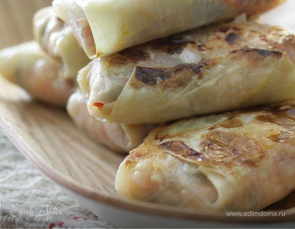 Голубцы с орехами и домашним сыром