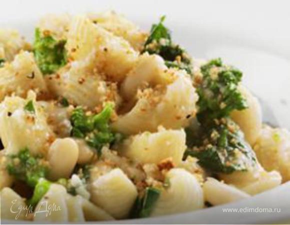 Белая фасоль с сыром и макаронами