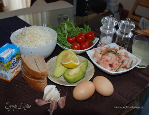 Корень сельдерея с морепродуктами