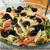 Итальянский салат с сыром и макаронами