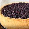 Творожный пирог с ягодами (черника)