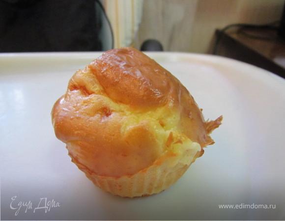 Закусочные маффины с сырками и чесноком