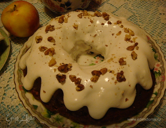 Зимний яблочный кекс
