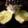 Кексы-ежи с лимонной подваркой