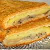 Пирог с начинкой из картофеля и грибов