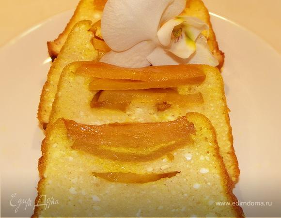 Нежный творожный пирог с айвой
