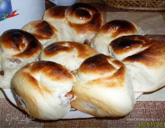 Сдобное дрожжевое тесто и булочки