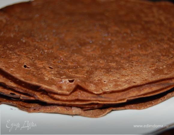 Шоколадные блины к Масленице.
