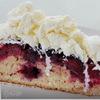 Ежевичный пирог с пломбиром