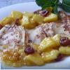 Миндальные блинчики с компотом из ананаса, фиников и ванили (разумеется, к Масленице ;-)