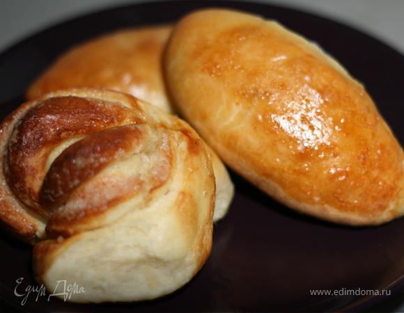 Пирожки с мясом и яйцом (сдобное опарное тесто)
