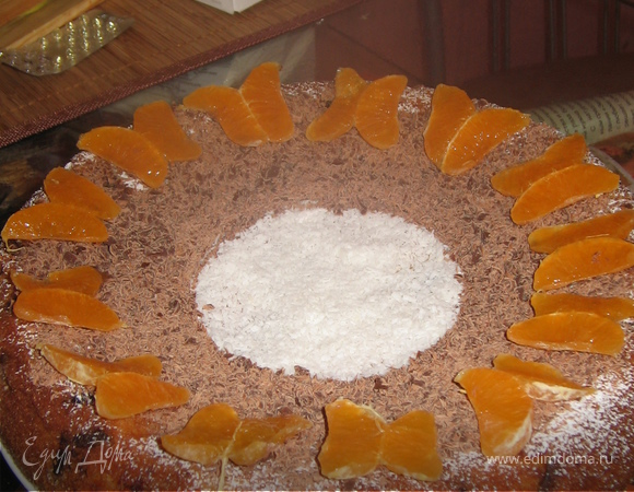"""Пирог """"Веселый мандарин"""""""