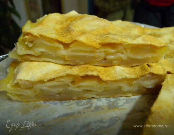"""Яблочный пирог с тестом """"фило"""" (вариант)"""