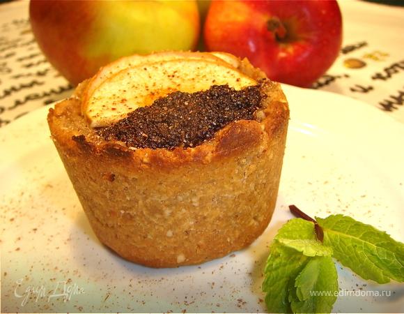 Маковое пирожное с яблоками. Постное и не очень.