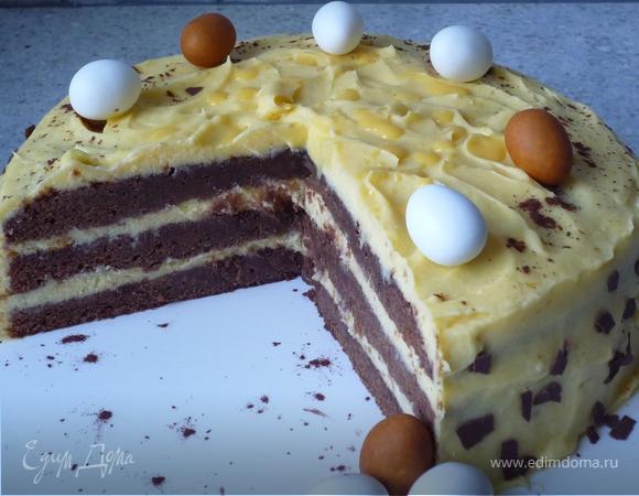 Благородный пасхальный торт для особенных моментов с близкими, или Кремообразный шоколадный торт с яичным ликером