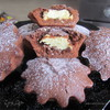Шоколадные кексы с творожной начинкой!