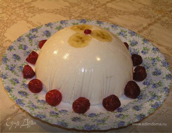 Творожно-банановый торт-купол