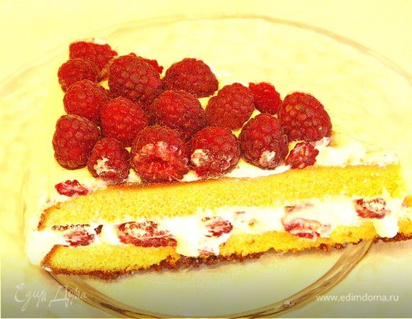 """Торт """"Малиновый"""" для Вениамина:)"""