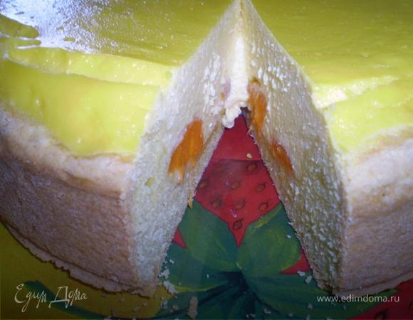 Абрикосовый пирог с нежной творожной начинкой