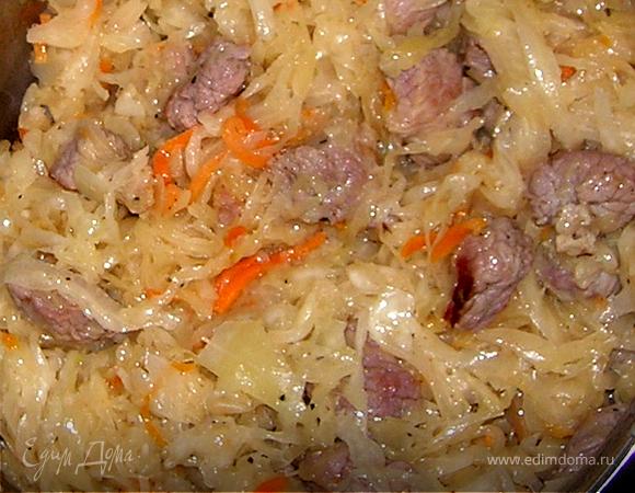Солянка из говядины и квашенной капусты