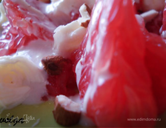 Салат из грейпфрута с сыром