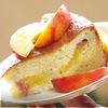 Творожно-ореховый пирог с нектаринами.