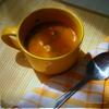 Летний овощной суп-пюре с чесночно-сырными клецками