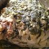 Свиная рулька, запеченная на молодых стручках фасоли