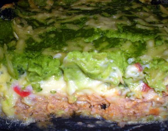 Запеканка с суфле из брокколи