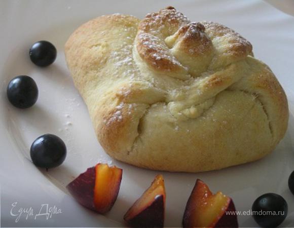 Творожные мешочки с фруктами