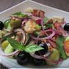 Салат диетический с крутонами