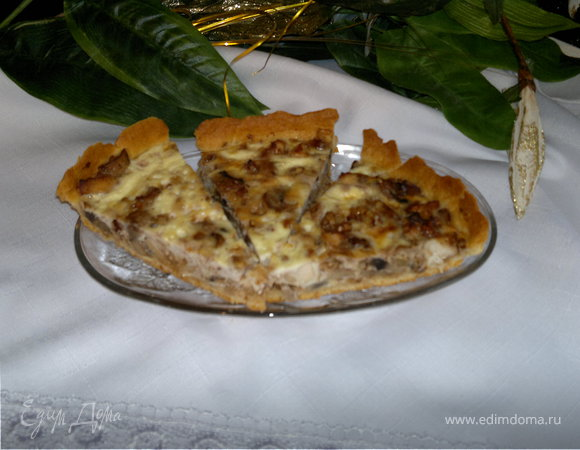 Куриный пирог с грибами