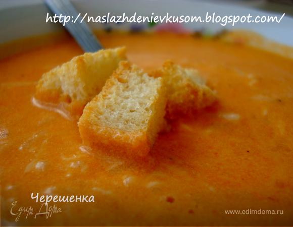 Томатный суп-пюре с макарошками