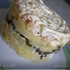 Слоёный салат с морской капустой.