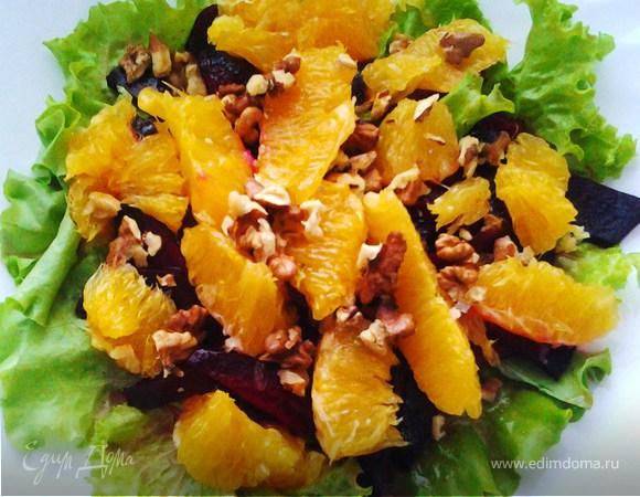 Марокканский салат со свеклой и апельсинами