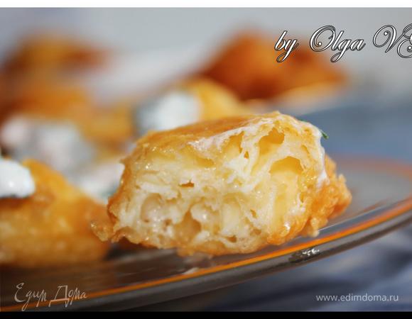 Сырные ШАРИКИ с творожным СОУСОМ