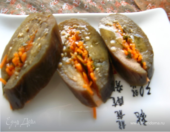 Закусочные соленые баклажаны по-грузински